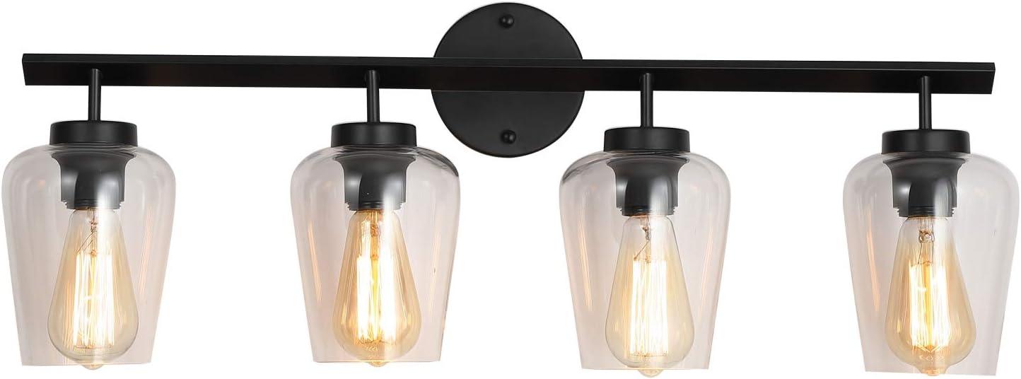 MWZ New mail order VintageVanity Lights for Bathroom 4 Vanity Black Lig Latest item