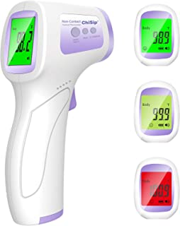 Forehead Thermometer for Adults, Touchless Digital Infrared Thermometers with 0.5s Instant Accurate Readings for Adult Kids Baby Body and Surface Thermometer, Fever Alarm and Memory Recall