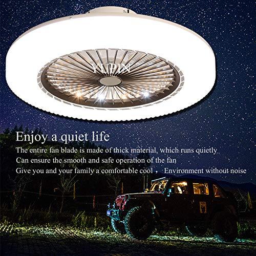 LED Fan Deckenventilator Neue Moderne LED Deckenleuchte Mit Fernbedienung Leise Fan Deckenlampe Schlafzimmer Lampe Wohnzimmer Kindergarten Büro Kinderzimmer Deckenventilator Beleuchtung