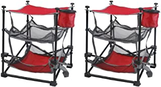 Ozark Trail Folding End Table Durable Steel Frame with Removable Swivel Cup Holder set of two (2)