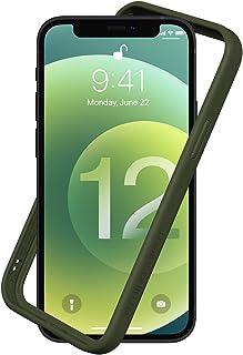 RhinoShield [iPhone 12 Mini] CrashGuard NXバンパーケース - 3.5mの落下衝撃からも保護 背面のないスタイリッシュデザイン - カーキ