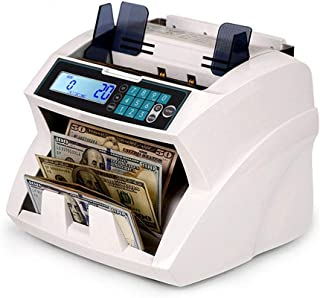 CHUXJ Bank Grade Mixed Denomination Money Counter Machine Cash Counter Bill Counter and Bill Reader with UV,MG,IR Counterf...