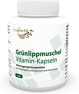 Mejillón verde 400mg + Vitaminas 180 Cápsulas - Vita World Farmacia Alemania