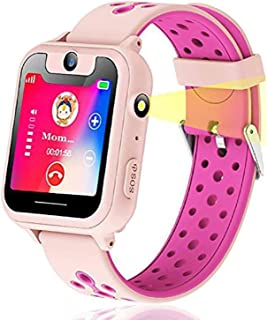 Themoemoe Kids Smartwatch, Kids GPS Tracker Watch Smart Watch Phone for Kids SOS Camera Game Compatible with 2G T-Mobile (...