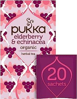 Pukka Organic Herbal Tea Elderberry & Echinacea 20 Tea Bags