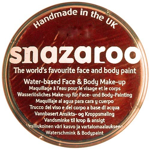 Snazaroo 75 ml Pot Body and Face Paint (Rust Brown)
