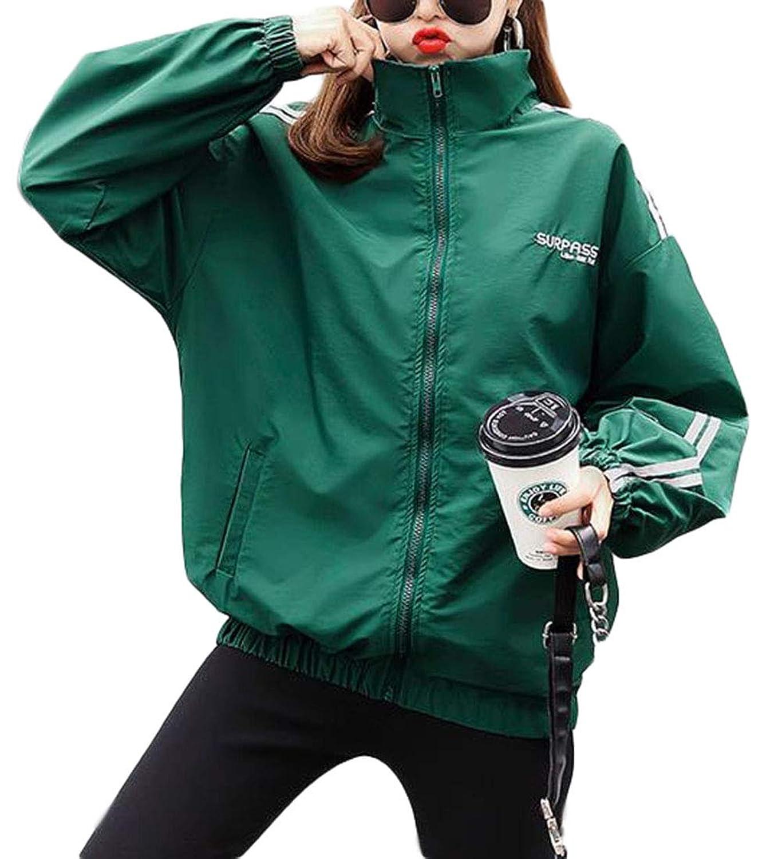 ZhongJue(ジュージェン)アウター レディース ゆったり 韓国 ブルゾン ファッション ジャケット 長袖 カジュアル ジャンパー ストリート系 春 秋