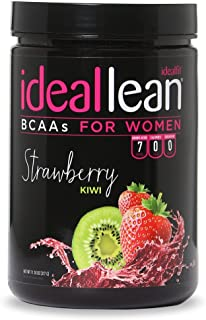 IdealLean BCAA for Women ‐ Amino Acids for Women | Maximize Fat Burn & Lean Muscle Growth | Aids Weight Loss | Post Workout Recovery Drink | 0 Calories, 0 Sugars, 0 Carbs | Strawberry Kiwi | 12 oz.