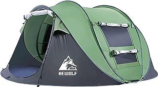 HEWOLF Automatiska pop-up tält 2–4 personer vattentätt campingtält omedelbart bärbart cabana strandtält UV-skydd solskydd ...
