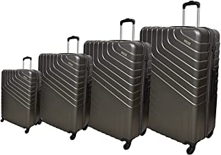 Track Luggage Trolley Bags 4 Pcs Set, Dark Grey