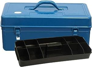 KDMB Multifunctionele gereedschapskist met plat deksel met uitneembare lade, gereedschapskist, gereedschapskist, organize...