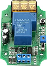 Relay Switch Module with High-Power Self-Locking Power-Off Delay for ON/Off Pulse Signal 5/12/24 V (12V)
