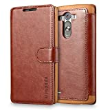 Mulbess Layered LG G3 Case, LG G3 Phone Case, Flip Leather