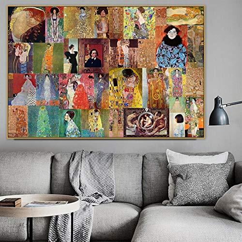 Decoración hogar Lienzo HD Grabado Pintura Gustav