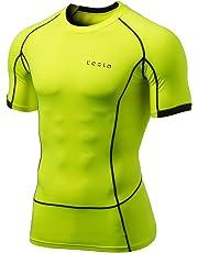 (テスラ)TESLA メンズ オールシーズン 半袖 ラウンドネック スポーツシャツ [UVカット・吸汗速乾] コンプレッションウェア パワーストレッチ アンダーウェア