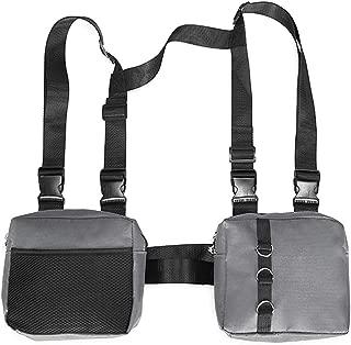 TOOGOO Fashion Hip Hop Streetwear Men Chest Rig Multi-Pockets Waistcoat Chest Bag Vest Functional Waist Packs Bag Black