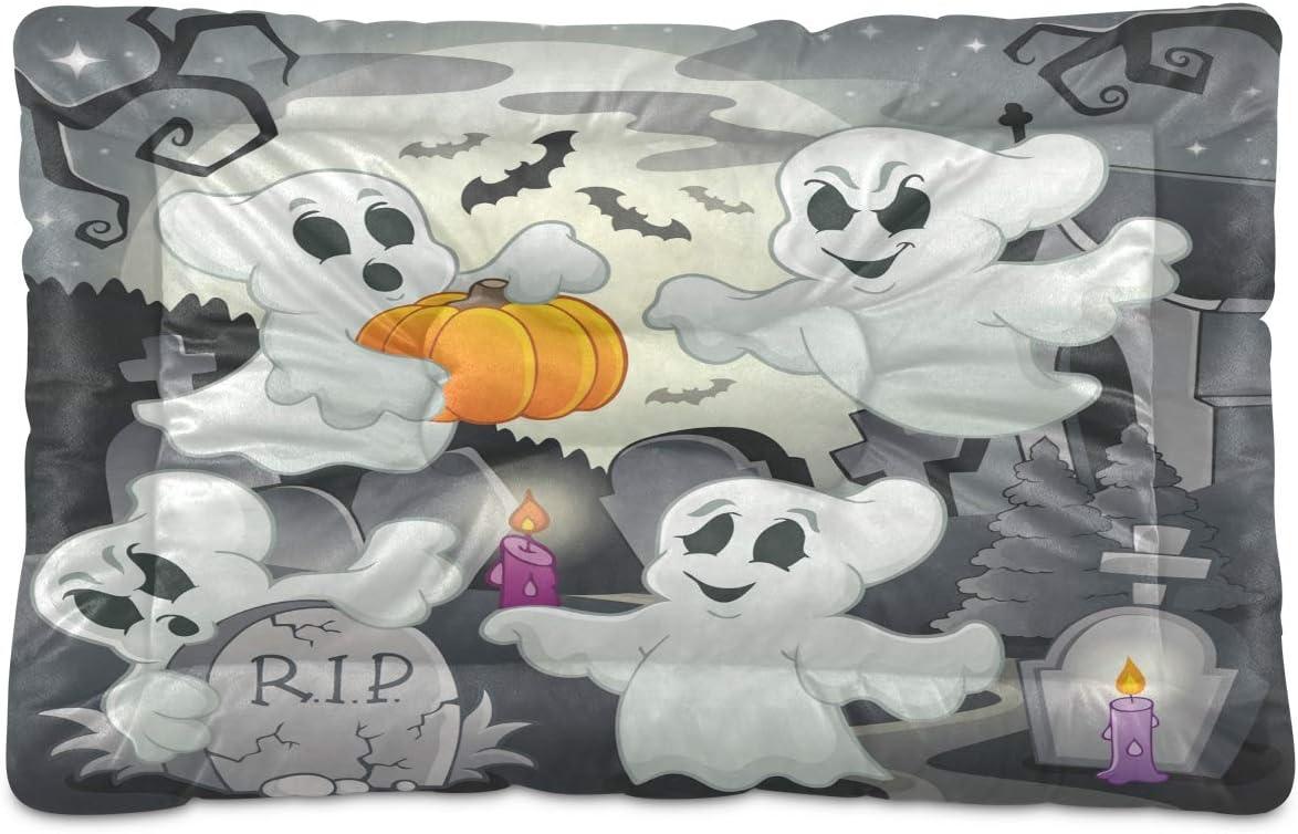 Nander Ghosts Pumpkin Dog Bed Dedication Mat Soft Pet Cushion Bombing new work Pillow Crate