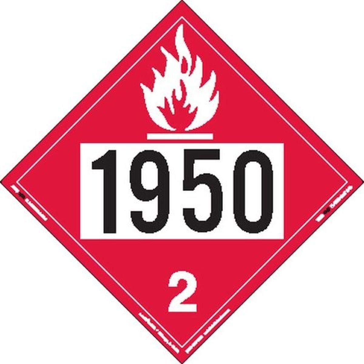 Labelmaster ZEZ81950 UN 1950 Flammable R Super beauty product restock quality top! Hazmat Gas E-Z Outlet sale feature Placard