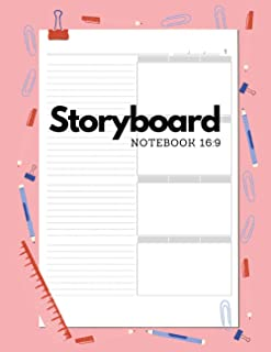 Storyboard Notebook 16:9: Large size 8.5x11 inch 180 page for Recording story. The logbook for Directors Animators & Creat...