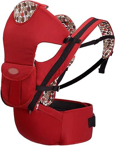 Porte-bébé Lumineux Prévention des collisions Conception Porte-bébé Multifonction 3 en 1 léger et ergonomique Porte-bébé souple (Couleur   rouge)