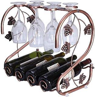 JFFFFWI Casier à vin créatif Multifonctionnel en Fer rétro, Support à Verre à vin, Peut être assemblé, Peut être utilisé p...