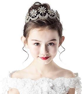 RKY Parte Superiore delle Ragazze, Bambini Corona Copricapo Principessa Girl Corona Crystal Golden passerella Modello for ...