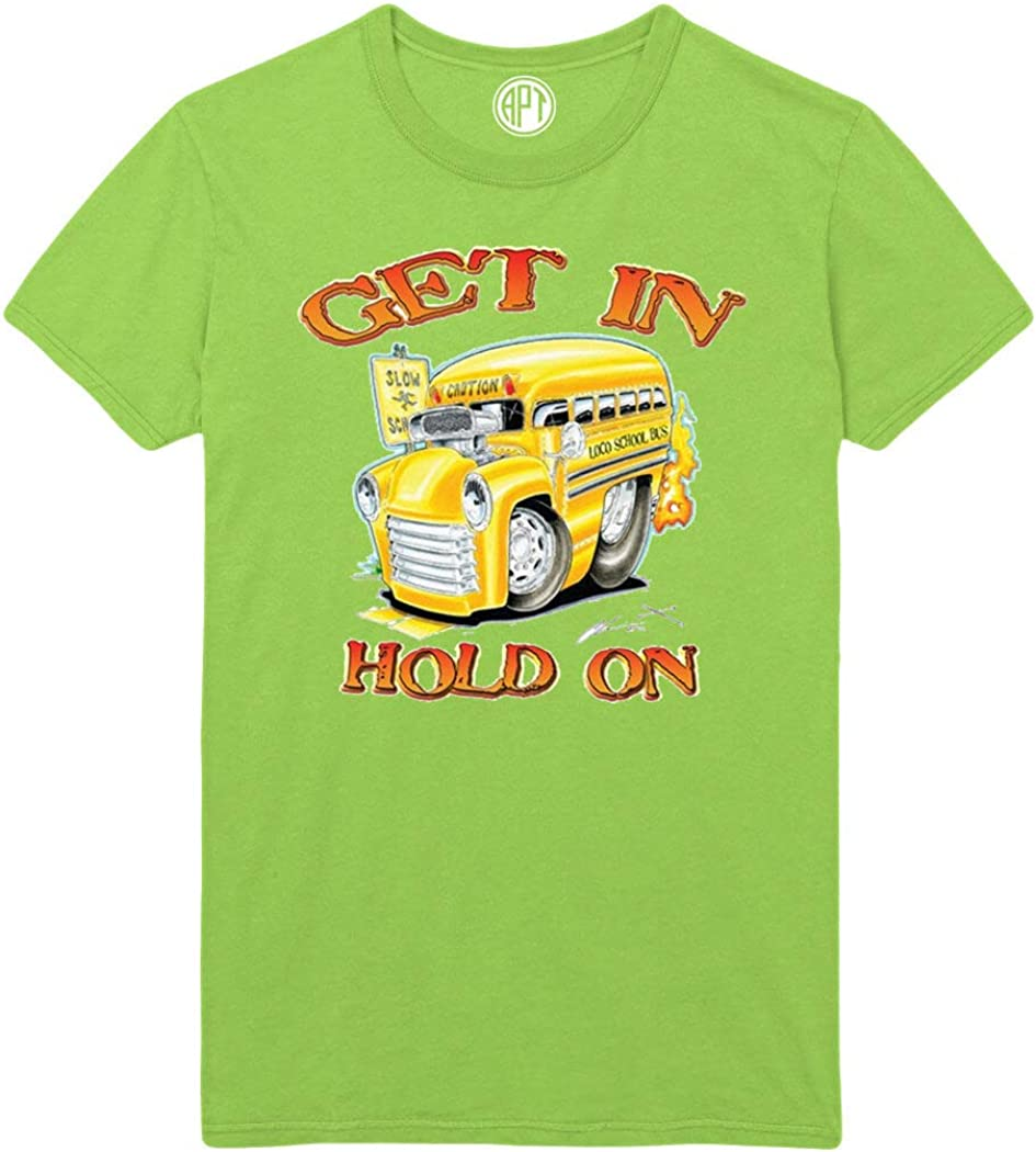 Get in Hold On School Bus Printed T-Shirt