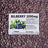 """The Vitamin BILBERRY 2000mg 120 tablets """"Eye Health"""" ~(L) by The Vitamin"""