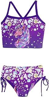PattyCandy Holiday Bikini Unicorn Shine Diamond Girls Tankini Swimsuit - 10
