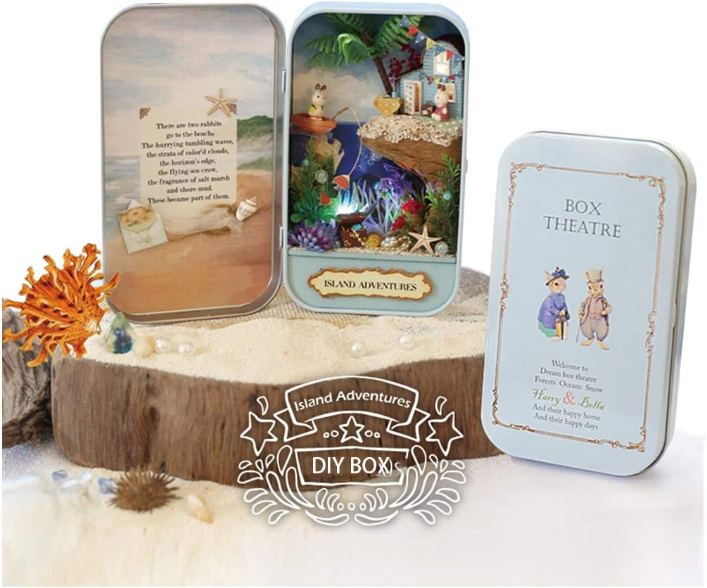 QIAONIUNIU Dollhouse Miniature DIY Kit with High order OFFicial Furniture T Mini Box