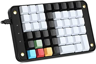 Koolertron Single-Handed Programmable Mechanical Keyboard with OEM Gateron Red Switch,All 46 Programmable Keys Tools Keypad,8 Macro Keys,PBT Keycap.[SMKD72-B]