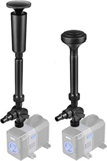 Flexzion Water Fountain Spray Head Nozzles Set Multifunction Kit Accessories - Included 2 Water Patterns: Blossom,  Mushroom Styles for Water Garden Pumps Aquarium Fis (Fountain Spray Head Nozzles Set)