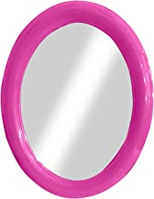 Confidence Designer Simple Frame Big Wall Mirrors For Bathroom Makeup And Shaving With New Look Wall Hanging Mirror For Dressing Rom (Oval Pink)