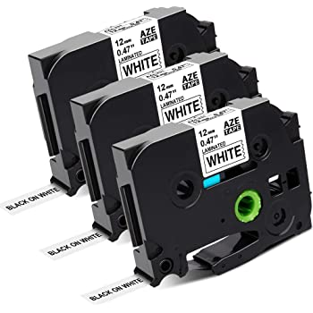 brother TZe Tape TZe 231 Schriftbandkassette Bandbreite:12 mm schwarz weiß