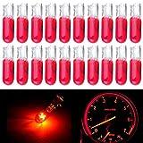 cciyu T5 17 86 206 Halogen Light Bulb Instrument Cluster Gauge Dash Lamp,20 Pack (red)