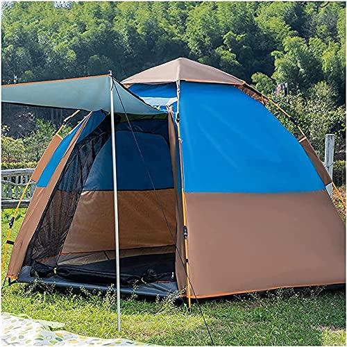Carpa Tienda de campaña para 3-4 personas, Carpa domo portátil instantánea Resistente al agua y protección, Refugio solar, Carpas familiares instantáneas, Adecuado para senderismo, camping, al aire li