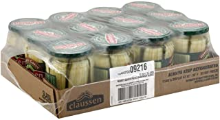 Claussen Hearty Garlic Dill Sandwich Slices Pickle, 20 Ounce -- 12 per case.