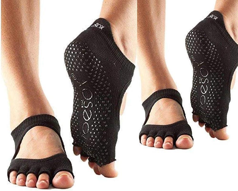Toesox Bellarina Half Toe Nippon regular agency Multi Pack Grip Max 50% OFF f - Non-Slip Socks