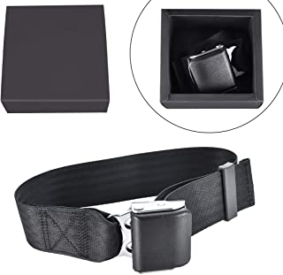 Ansblue Airplane Seat Belt Extender,for Southwest Airlines,Protect Your Safety and Bring You a Comfortable Trip,Gift Box Packaging- Black/Type B