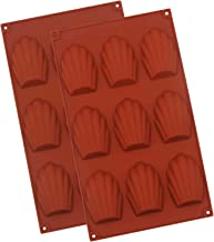 Baker Boutique Silicone Madeleines Mold - 9 Cavities Nonstick Silicone Mold, Baking Mold, Handmade Soap Moulds, Ice Cube T...