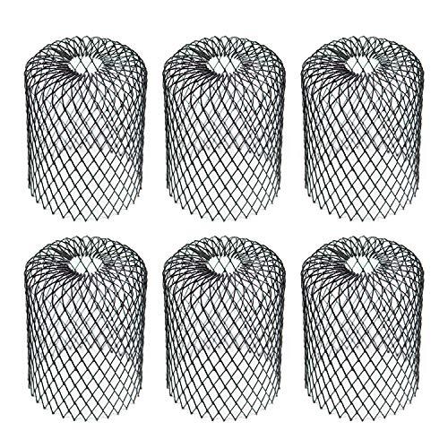 Kraftex Dachrinnenschutz, Laubfilter, Dachrinnensieb und Fallrohrschutz, besser als Dachschutz, Netz-Laubschutz mit bis zu 10,2 cm Durchmesser, Regenrinnenabdeckung und Regenschutz, Schwarz, 6 Stück