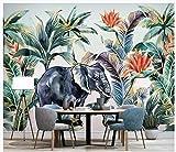 carta da parati retro modello vegetale pianta animale carta da parati carta da parati soggiorno camera da letto carta da parati carta da parati decorazioni per la casa arte murale
