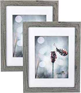 Scholartree Wooden Grey 11x14 Picture Frame 2P 5x7 3P 8x10 2P (Style 2, 11x14 inches 2P)