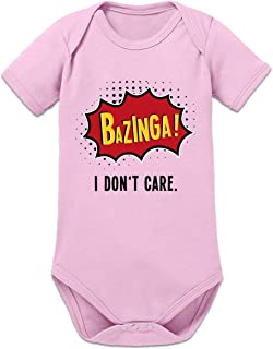 """Shirtcity Bazinga I Don""""t Care Baby Strampler by"""