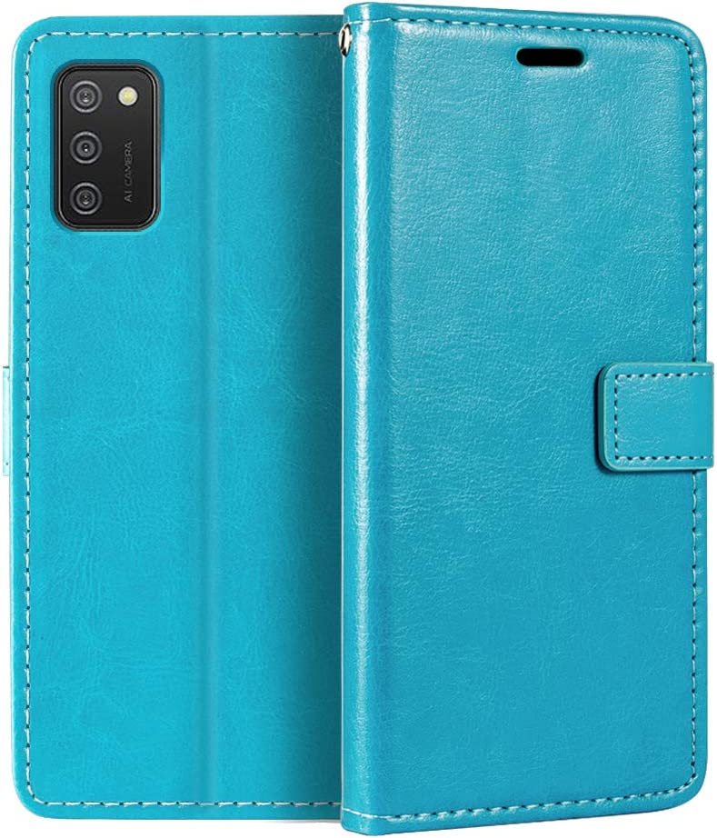 Samsung Galaxy A03S 4G Wallet Case, Premium PU Leather Magnetic Flip Case Cover with Card Holder and Kickstand for Samsung Galaxy A03S 4G