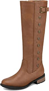 DREAM PAIRS Women's Knee High Riding Boots (Wide-Calf)