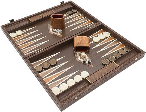 la mejor selección de Manopoulos The Natural Burl and Wenge Juego de de de Backgammon de Lujo con Tazas de Lujo  ventas en linea