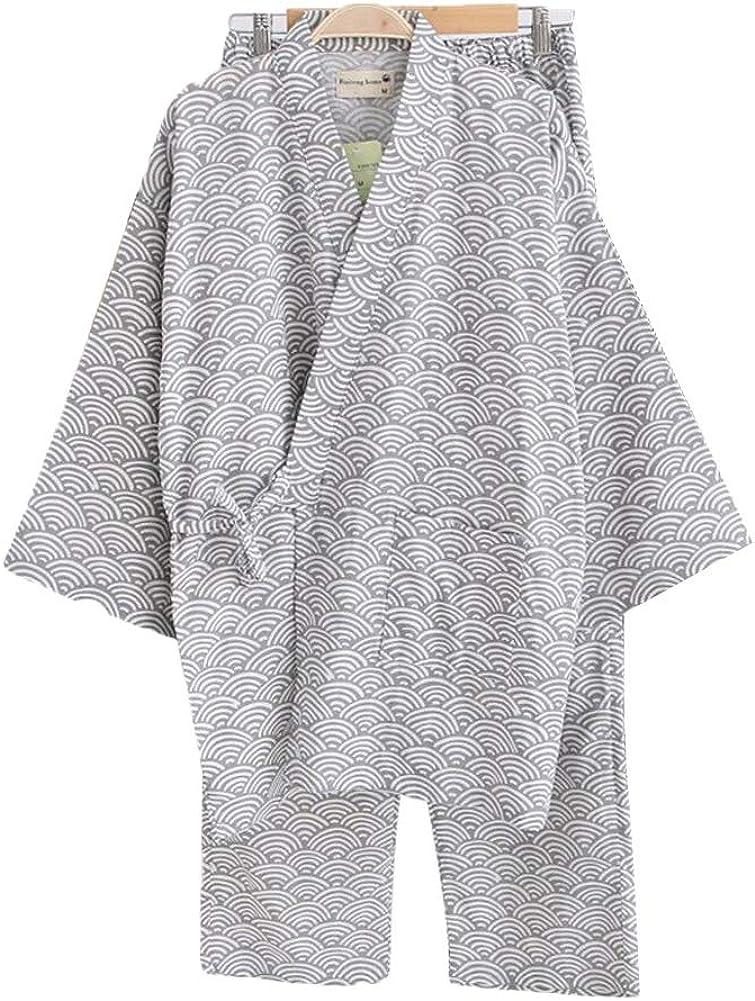 Lightweight Translated Cotton Robe Plus Size Max 78% OFF Sleepwear Kimono Bathrobe Nigh