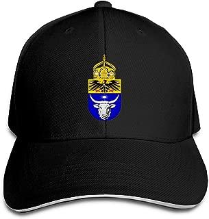 German West African Friendship Emblem Trucker Baseball Cap Adjustable Peaked Sandwich Hat