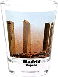 Madrid Spain City Skyscrapers Color Photo Shot Glass